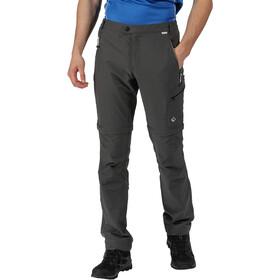 Regatta Highton Stretch Pantalones Zip-Off Hombre, magnet